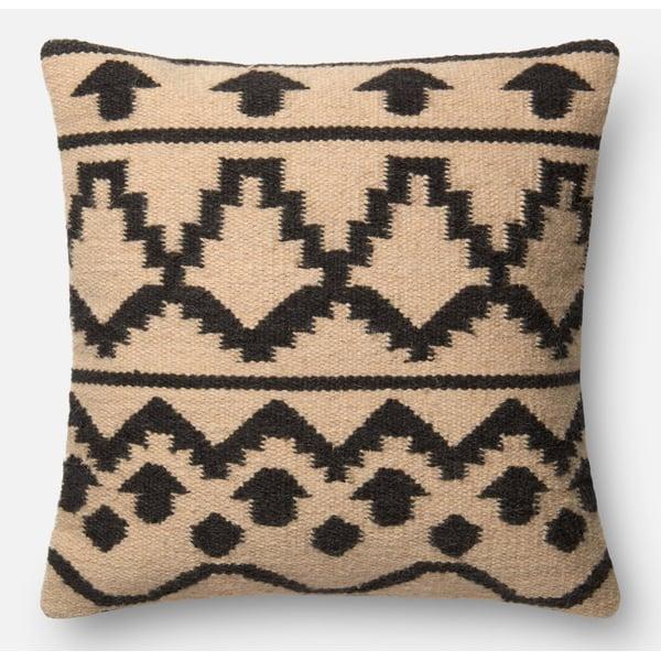 Ivory, Black Bohemian Pillow