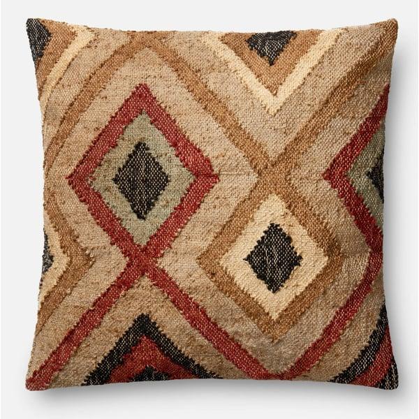 Rust, Beige Southwestern pillow