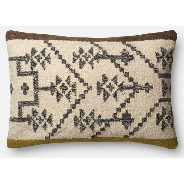 Olive, Taupe Southwestern pillow