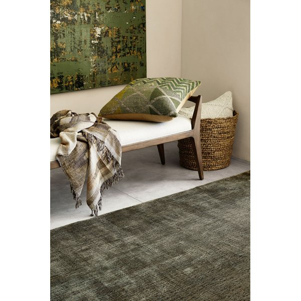 Green, Taupe, Gold Contemporary / Modern Pillow