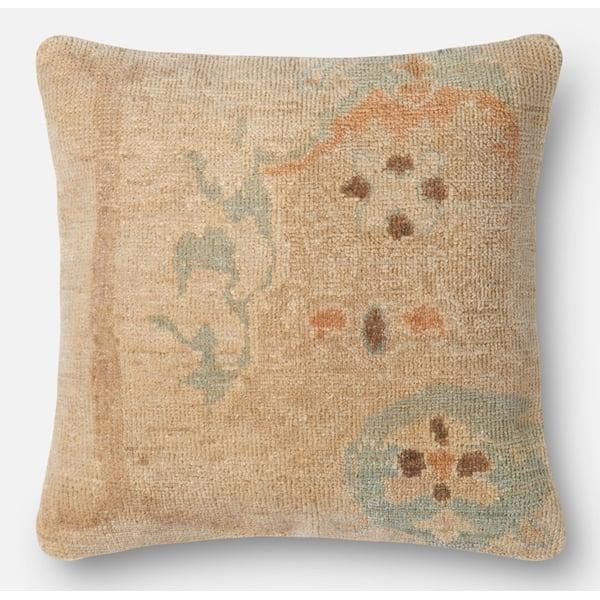 Beige, Green Contemporary / Modern pillow