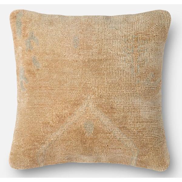 Beige, Gold Contemporary / Modern Pillow