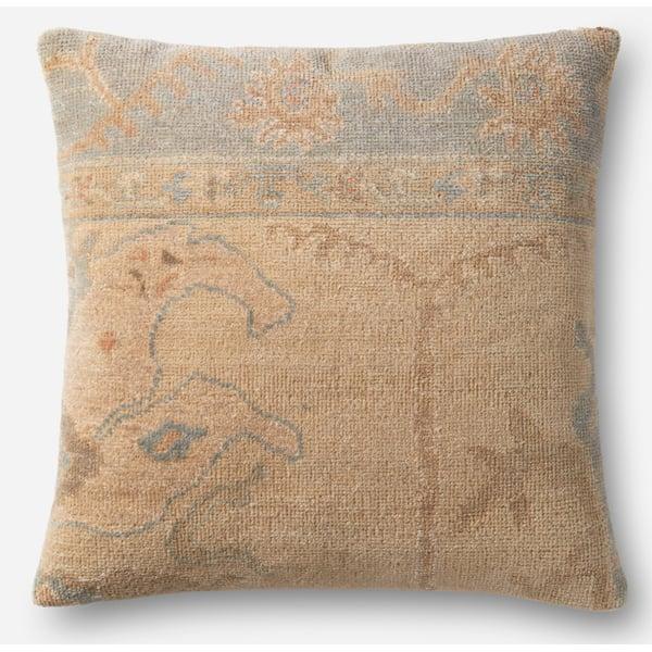 Beige, Light Green Contemporary / Modern Pillow