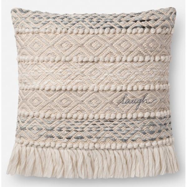 Grey, Natural Bohemian Pillow