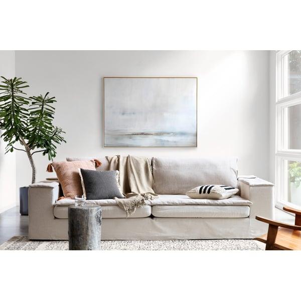 Black, Natural Contemporary / Modern Pillow