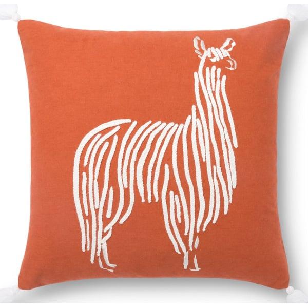 Rust, Ivory Animals / Animal Skins Pillow