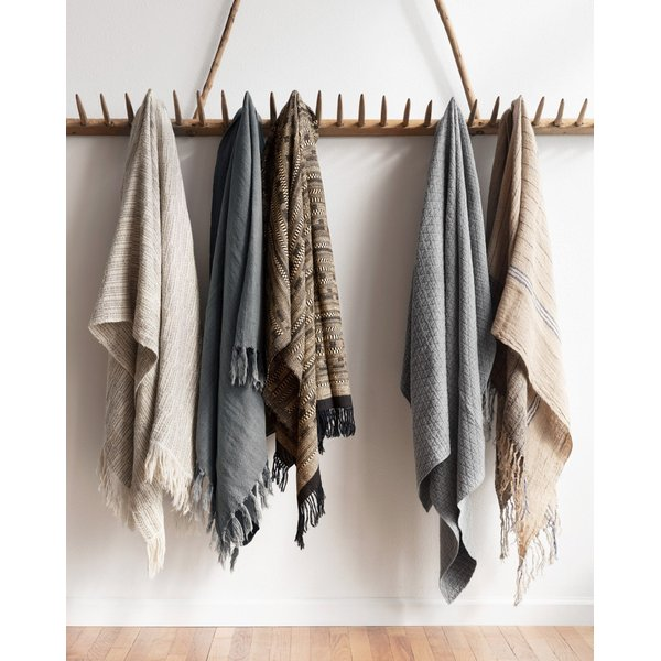 Grey Solid Throws