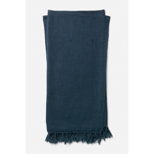 Navy Solid throws