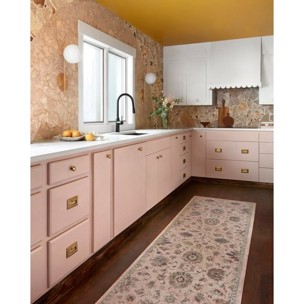 Blush Traditional / Oriental Area Rug