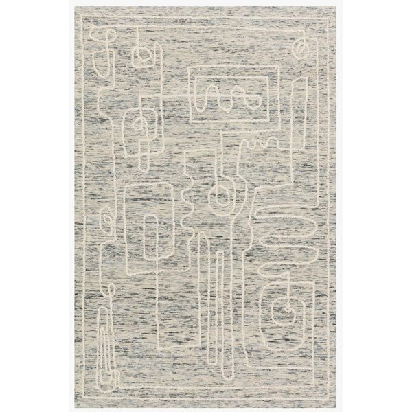 Sky, White Abstract Area Rug