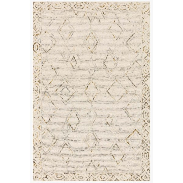 Ivory, Lagoon Moroccan Area-Rugs