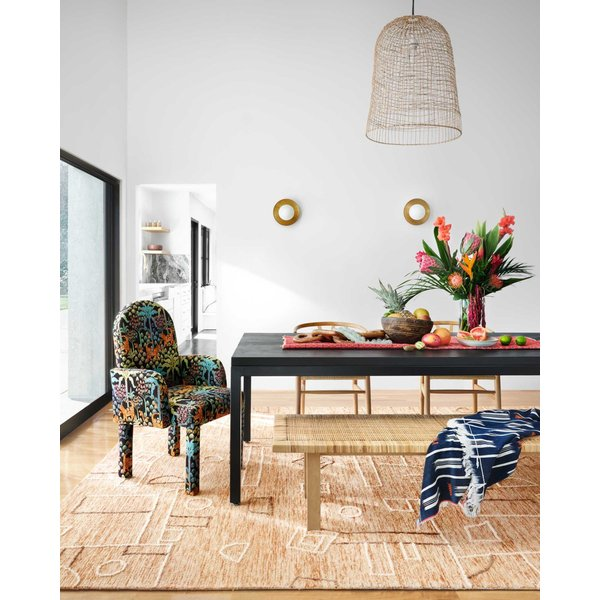 Terracotta, Natural Abstract Area Rug