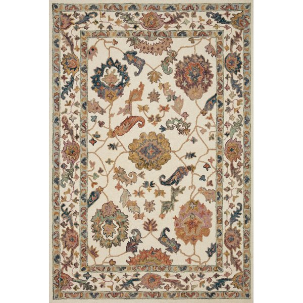 White Traditional / Oriental Area Rug