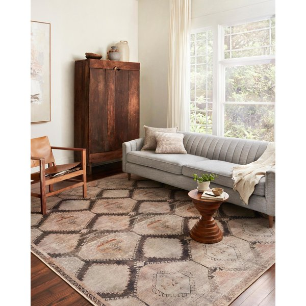 Graphite, Blush Bohemian Area Rug