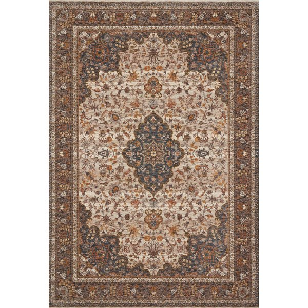 Natural, Ocean Traditional / Oriental Area Rug