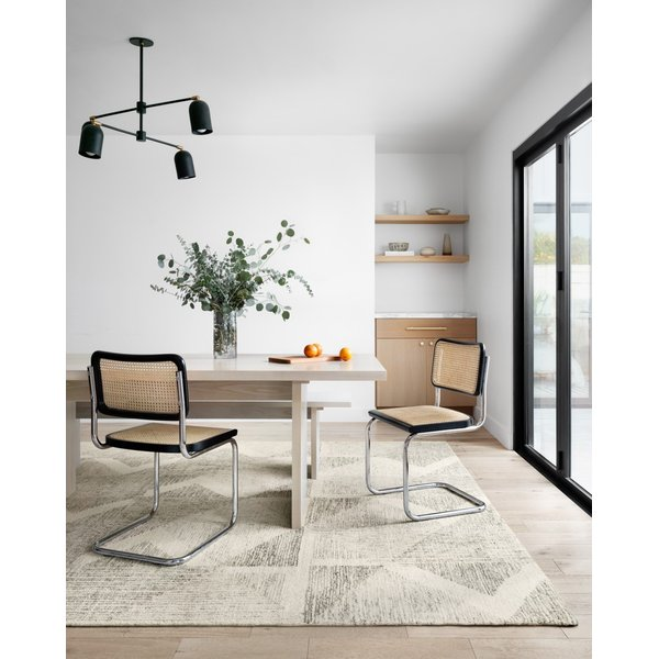 Light Grey, Granite Contemporary / Modern Area Rug
