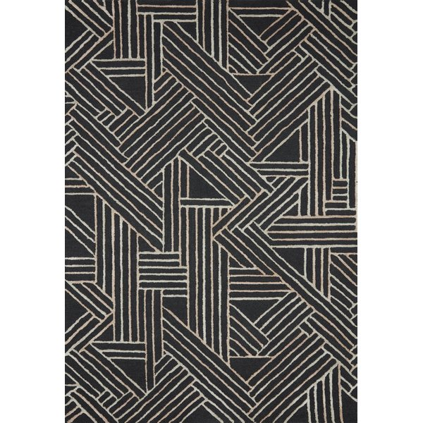 Charcoal, Neutral Contemporary / Modern Area Rug