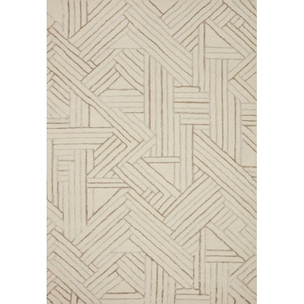 Ivory, Oatmeal Contemporary / Modern Area Rug