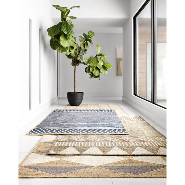 Denim, Natural Natural Fiber Area Rug