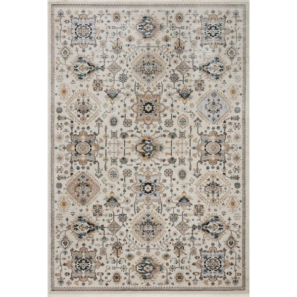 Ivory, Taupe Traditional / Oriental Area Rug