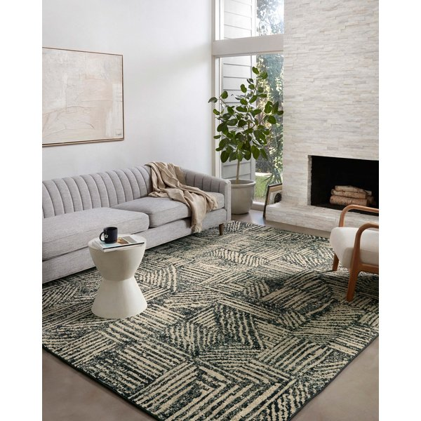Midnight, Taupe Contemporary / Modern Area Rug
