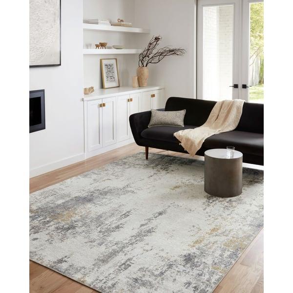 Ivory, Granite Contemporary / Modern Area-Rugs