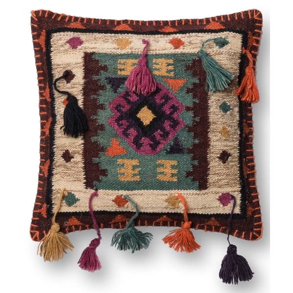Brown, Green Southwestern Pillow