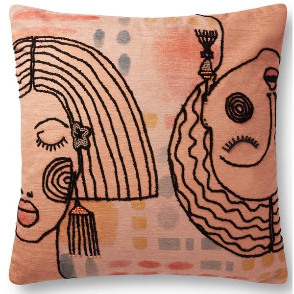 Terracotta Bohemian pillow