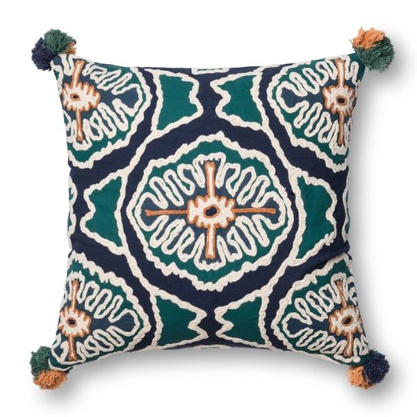 Blue, Teal Contemporary / Modern Pillow
