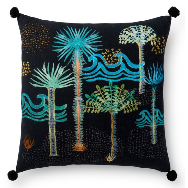 Black Beach / Nautical Pillow