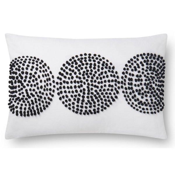 Natural, Black Geometric pillow