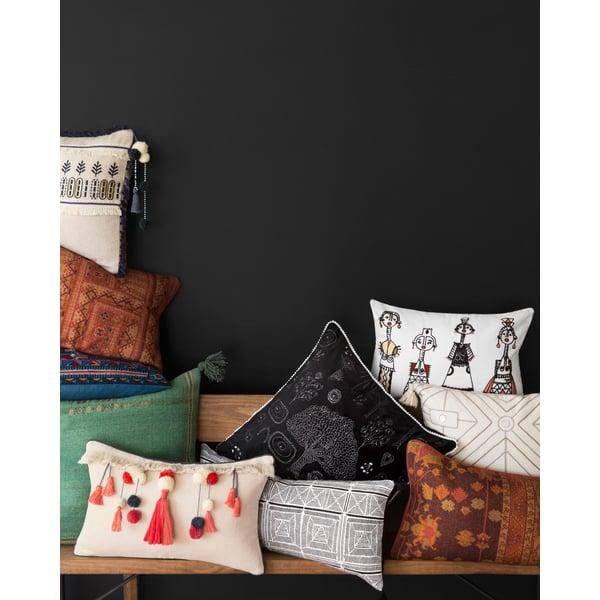 Black, White Moroccan pillow