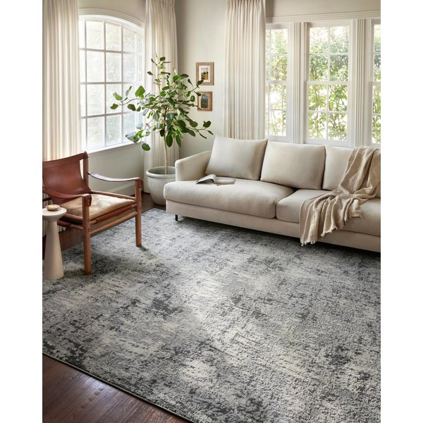 Pebble, Charcoal Contemporary / Modern Area Rug