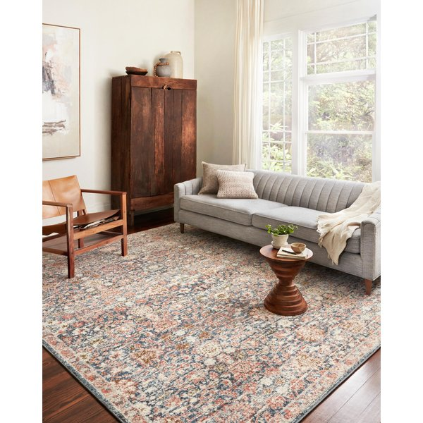 Navy, Rust Vintage / Overdyed Area Rug