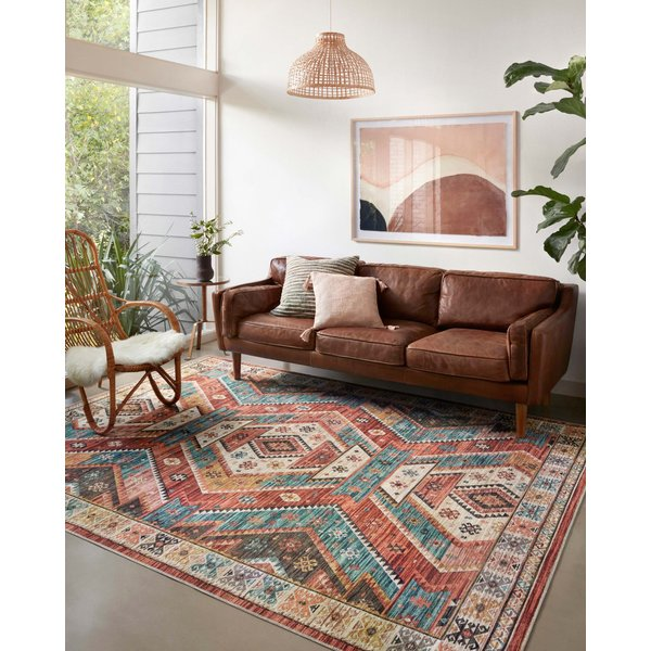 Red Southwestern Area Rug