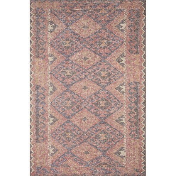 Red, Navy Southwestern Area Rug