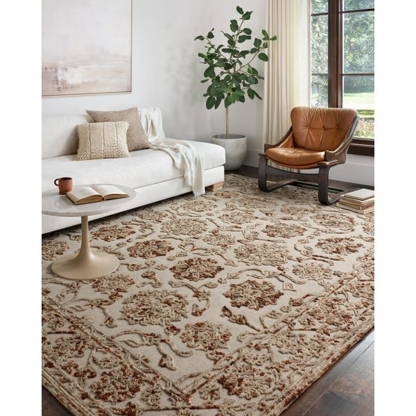 Taupe, Rust Traditional / Oriental Area Rug