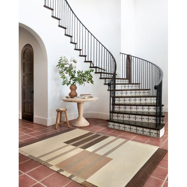 Natural, Bark Contemporary / Modern Area-Rugs