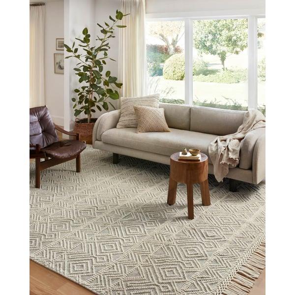 Ivory, Grey Bohemian Area-Rugs