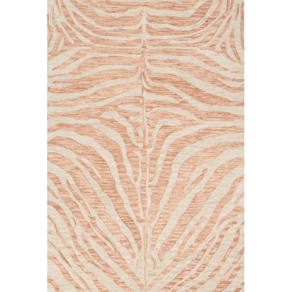 Blush, Ivory Animals / Animal Skins Area-Rugs