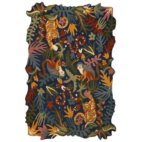 Navy Global Nomad Area-Rugs