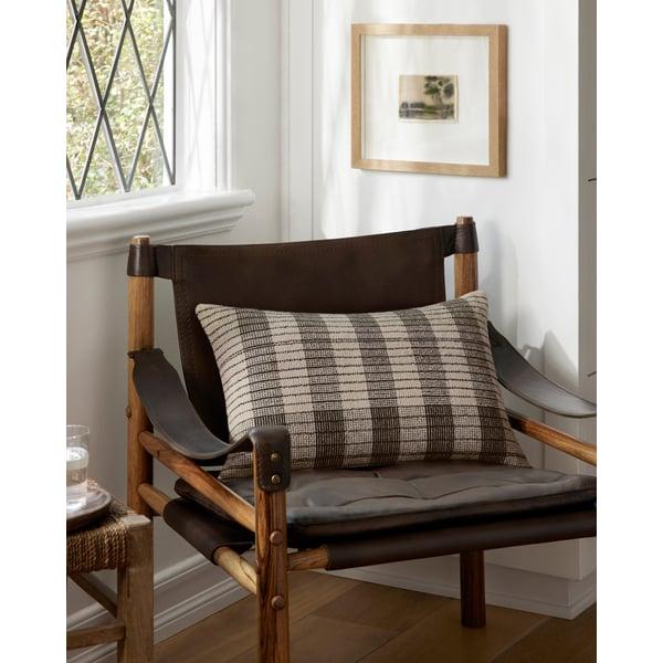 Ivory, Black Striped Pillow