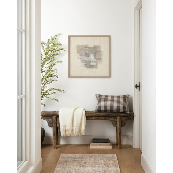 Beige, Grey Abstract Wall-Hangings