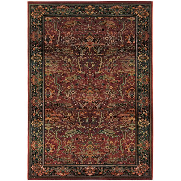 Red, Green Traditional / Oriental Area-Rugs