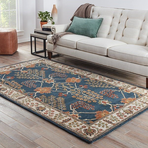 Indigo, Rust Red, Sage (PM-82) Bohemian Area Rug