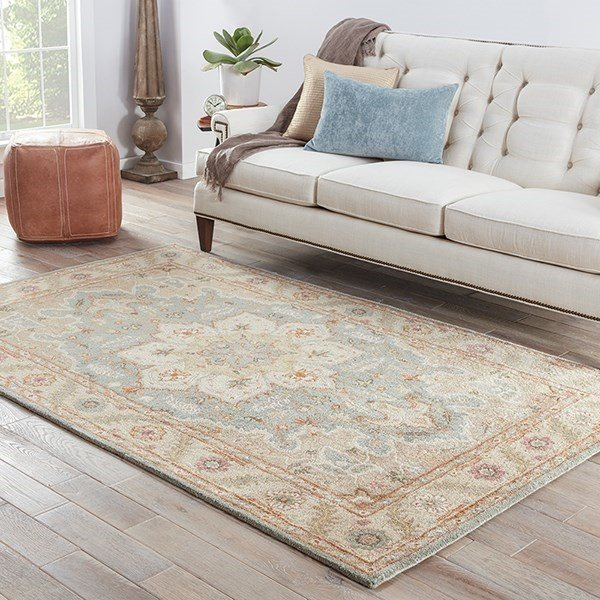 Blue Surf, Cloud White (PM-50) Traditional / Oriental Area Rug