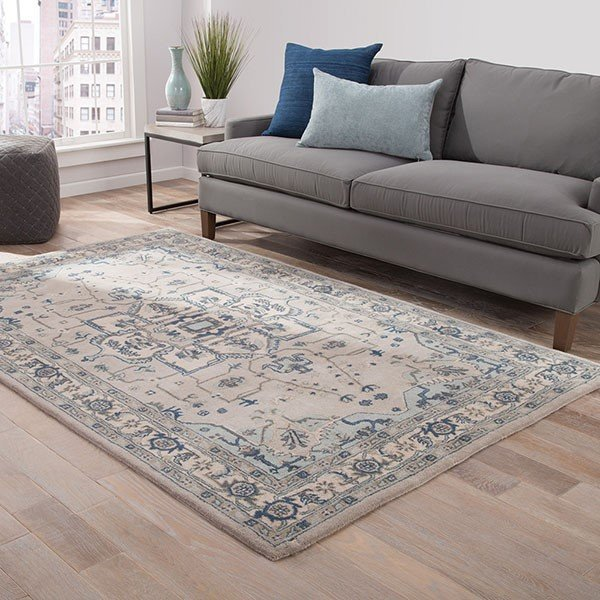 Taupe, Blue (PM-149) Traditional / Oriental Area Rug