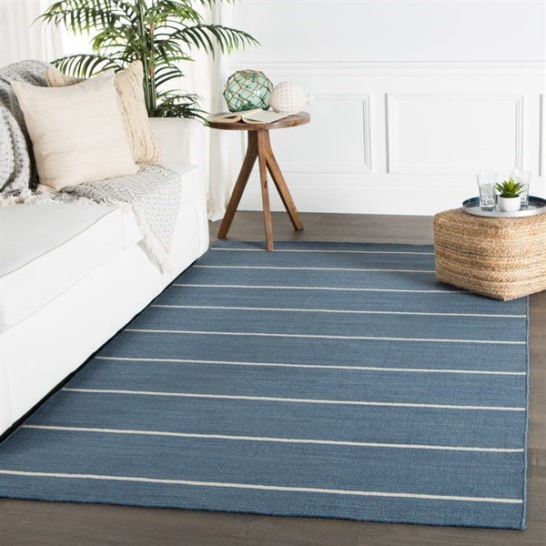 Dark Denim (COH-09) Striped Area Rug