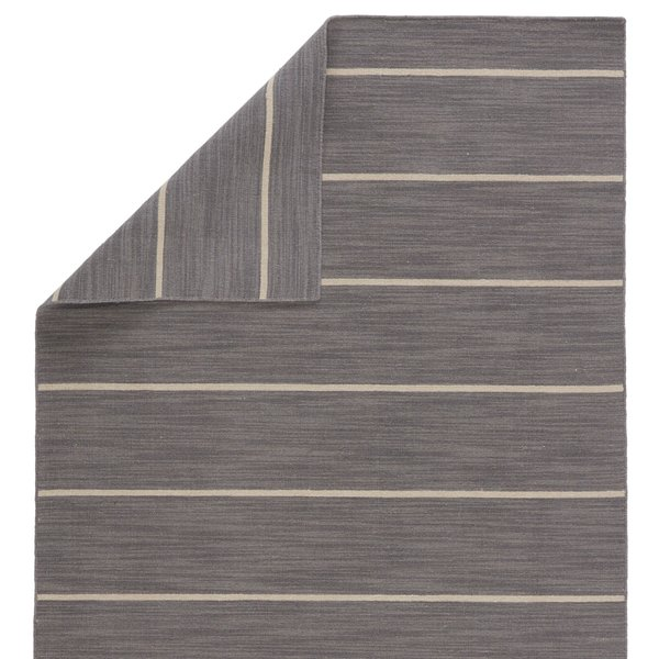 Stone Grey (COH-13) Striped Area Rug