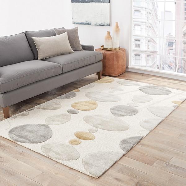 White (BL-102) Contemporary / Modern Area Rug